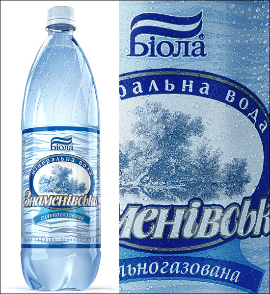 "Mineral water ""Znamenovskaya. Label design. Year 2006."