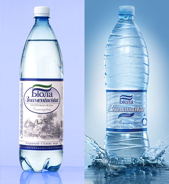 "Mineral water ""Znamenovskaya. Label design. Years 2001-2011."