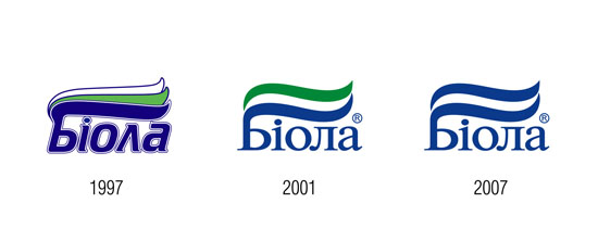 "Previous versions of the trademark ""Biola"": 1997, 2001 and 2007"
