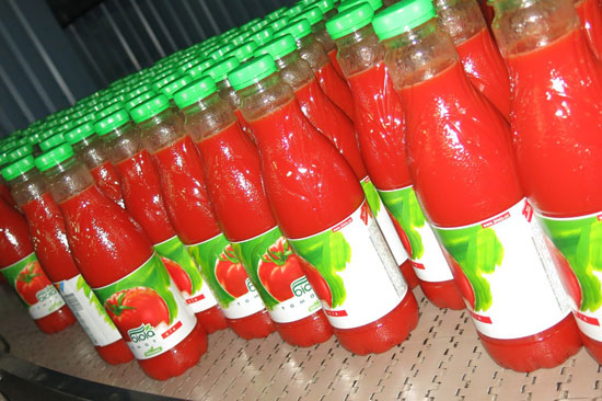 "The first batch of juice ""Biola""with the new label design"